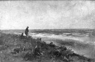 A Strand with an Old Man and a Seated Figure