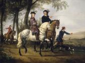 Landscape with a Youth and his Tutor on Horseback