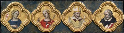 Four Saints: St Ursula, St Catherine, St Augustine (?) and St Dominic
