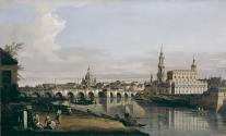 Dresden from the Right Bank of the Elbe, below the Augustus Bridge