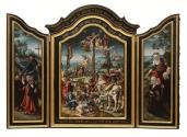 Triptych with the Crucifixion and Donors