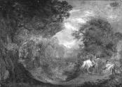 A Landscape with Horseman, Mother and Child
