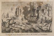 View of the Naval Engagement between the Turks and the Russians