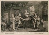 Marriage à la Mode, plate 3 - The Visit to the Quack Doctor by the Viscount and his Mistress