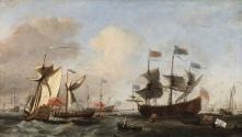 The Royal Visit to the Fleet in the Thames Estuary, 6 June 1672
