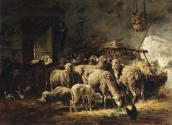 Sheep in a Barn