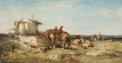 Eastern Soldiers with a Horse Drinking