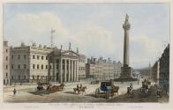 The General Post Office and Belson Pillar, (now demolished), Sackville, (now O'Connell), Street, Dublin
