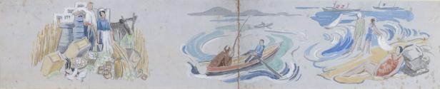Fishing from a Currach continued (left) and the Sea Shore (right)