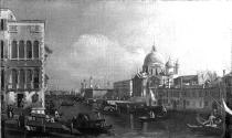 The Grand Canal, Venice, with the Church of the Salute and the Customs House, from Campo Santa Maria Zobenigo