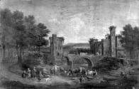 A Landscape with Figures and Bridge
